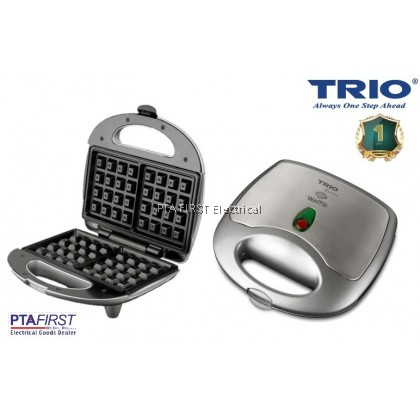 Trio Waffle Maker TWM-9017 with Non Stick Coating Plate
