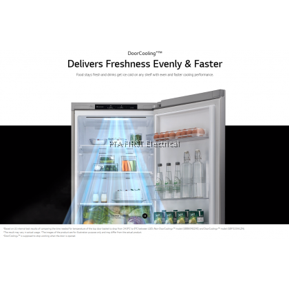 LG Refrigerator GC-B369NLRM 306L